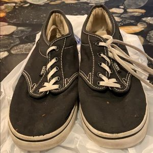 Women's black vans sneakers shoes size 7.5